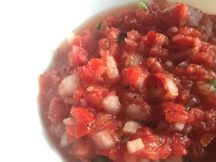 Easy Pico de Gallo Salsa