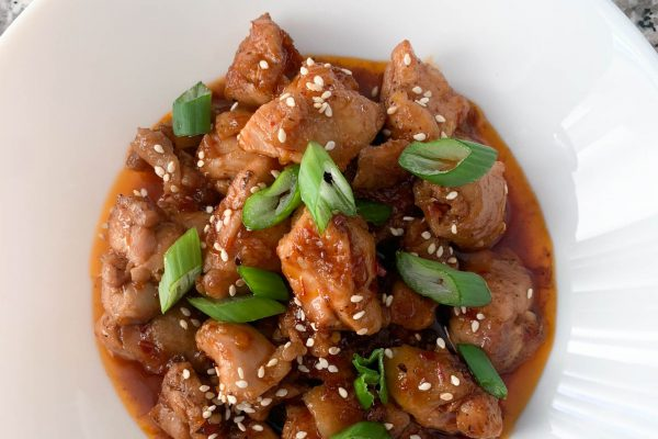 Keto bourbon chicken recipe.